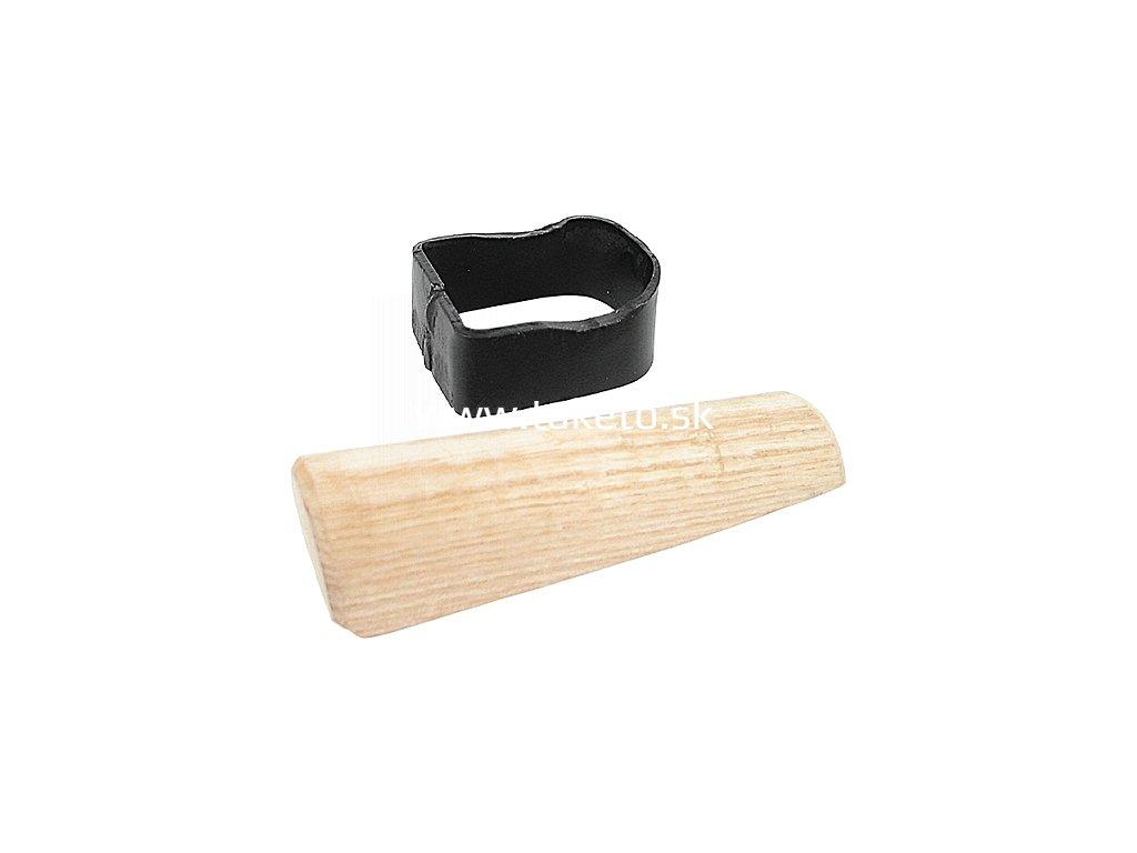 Objímka na kosu, Fe, s dreveným klinkom  + praktický pomocník k objednávke
