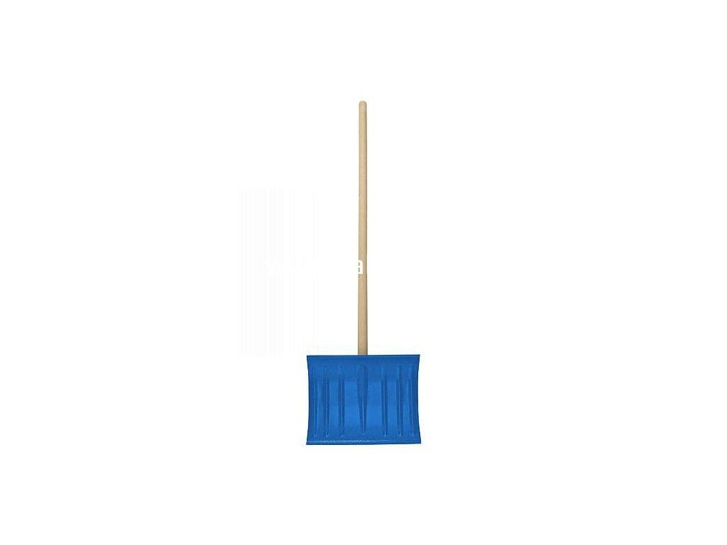 Odhrnovac AIX-3.22 kovový, na sneh, 440x345 mm, s násadou, modrý  + praktický pomocník k objednávke