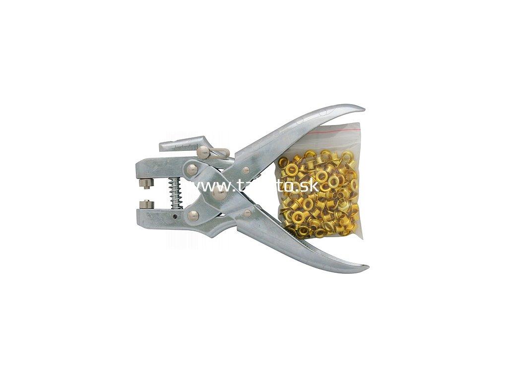 Kliešte na duté nity Strend Pro MPT1205, očkovacie, + 100 ks očiek  + praktický pomocník k objednávke
