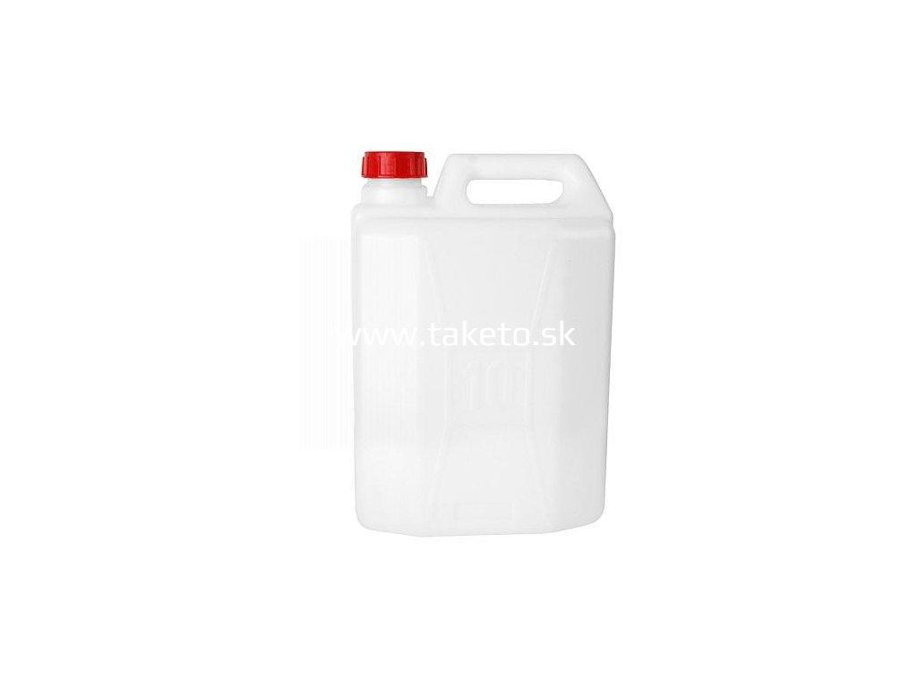 Kanister JPP KL-05, biely, odľahčený, 5 lit, HDPE, max. 5.14 lit, Bericap SK 38/23  + praktický pomocník k objednávke