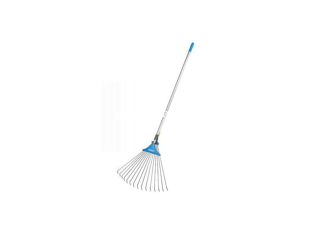 Hrable AQUACRAFT® 380331, záhradné, vejárové, nastaviteľné, s násadou Alu  + praktický pomocník k objednávke