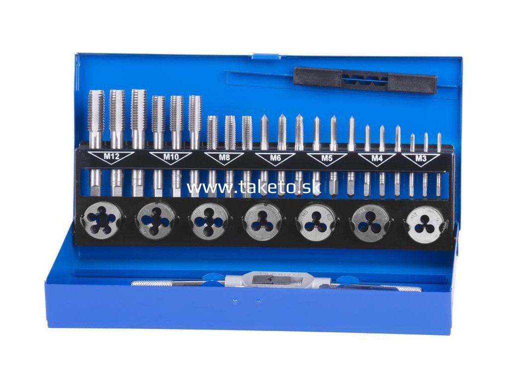Sada závitnikov a závitových očiek Strend Pro SX1033, HSS, 33 dielna, M3-M12  + praktický pomocník k objednávke