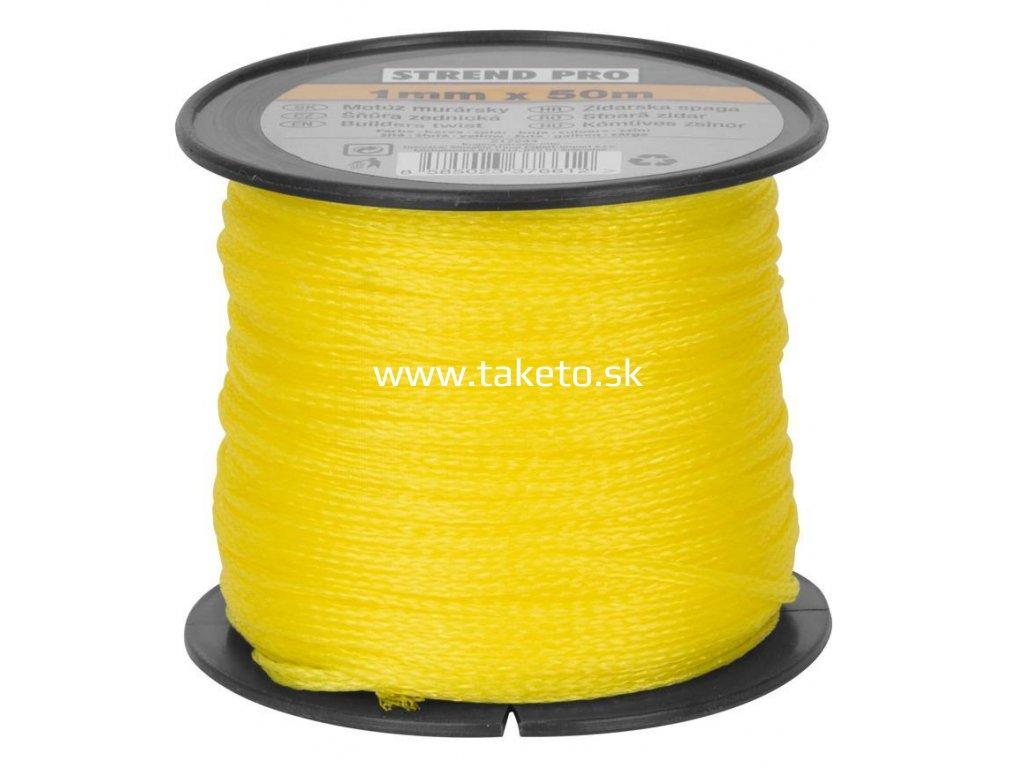 Motúz Strend Pro žltý, 1,0 mm, 50 m, murársky  + praktický pomocník k objednávke