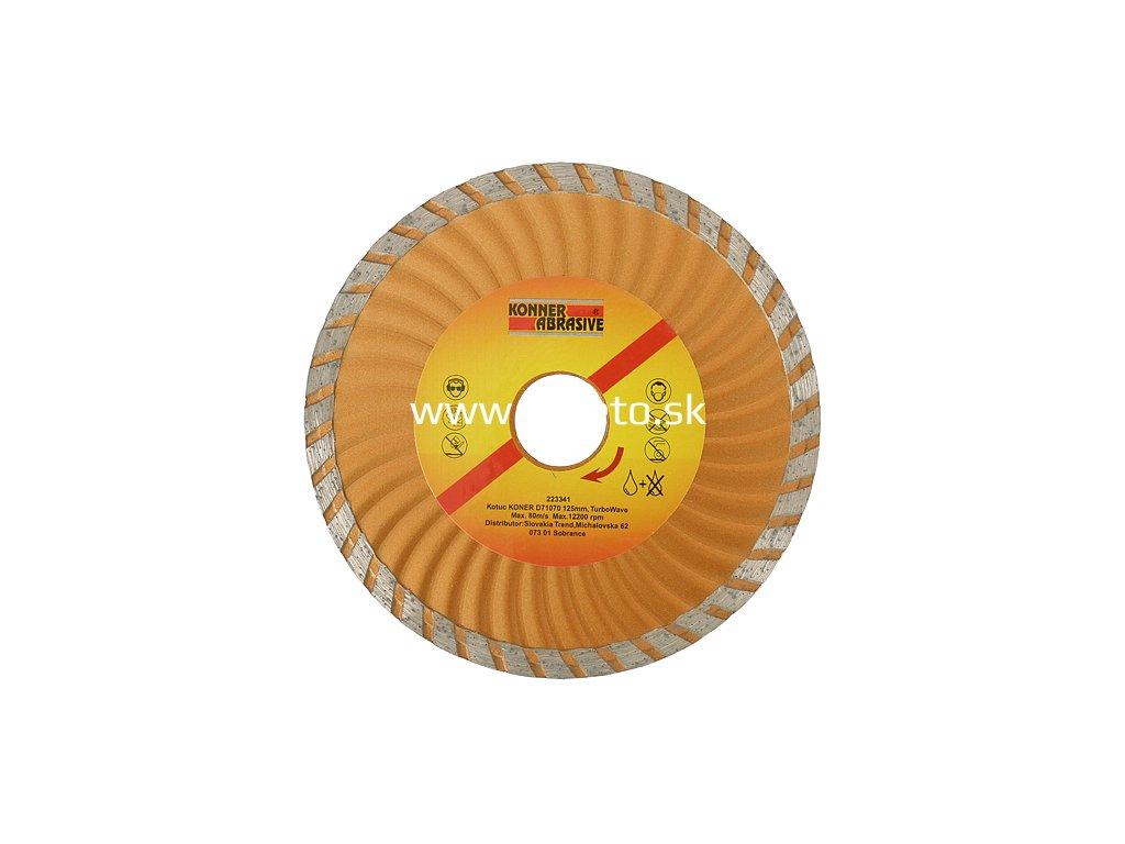 Kotúč KONNER D71070 125 mm, diamantový, Turbo Wave  + praktický pomocník k objednávke