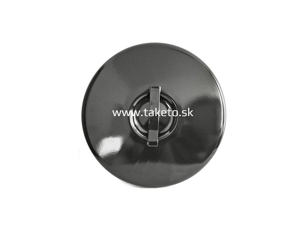 Pokrievka Thorma 60 lit, smaltovaná, čierna  + praktický pomocník k objednávke