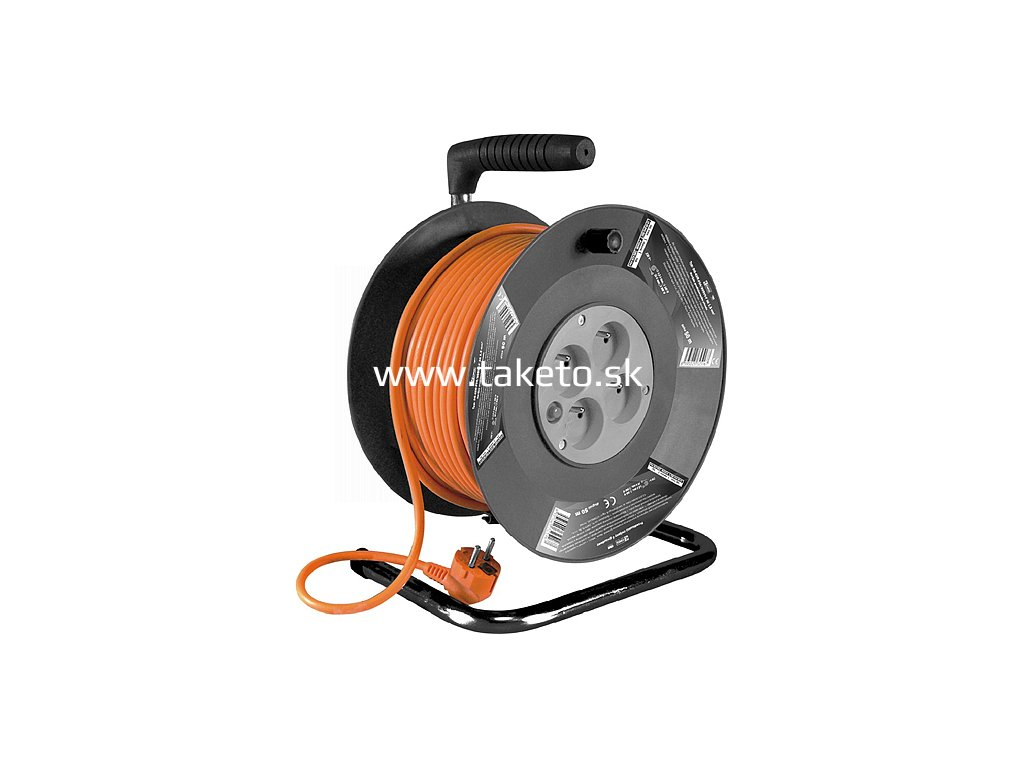 Kabel Strend Pro DG-FB04 25 m, predlžovací na bubne  + praktický Darček k objednávke