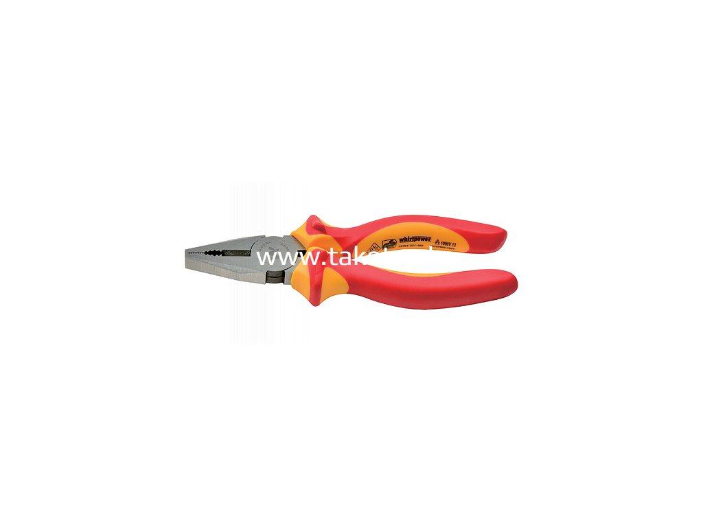 Kliešte whirlpower® 15701-321 200 mm, elektrikárske, kombinované, VDE 1000, DIN5746  + praktický pomocník k objednávke