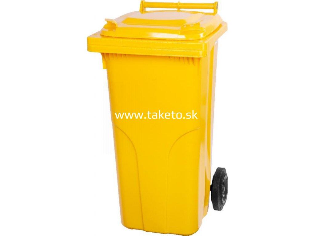 Nadoba MGB 120 lit, plast, žltá 1018, HDPE, popolnica na odpad  + praktický pomocník k objednávke