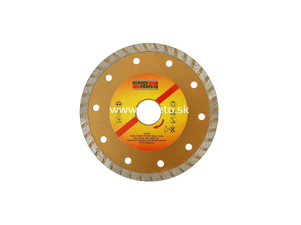 Kotúč KONNER D71005 125 mm, diamantový, Turbo +  + praktický pomocník k objednávke