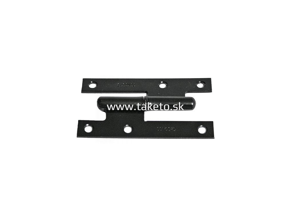 Záves dverový T0019B • H Fe 95x55x2.0 mm, ľavý  + praktický pomocník k objednávke