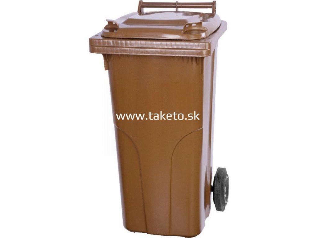 Nadoba MGB 240 lit, plast, hnedá, popolnica na odpad  + praktický pomocník k objednávke