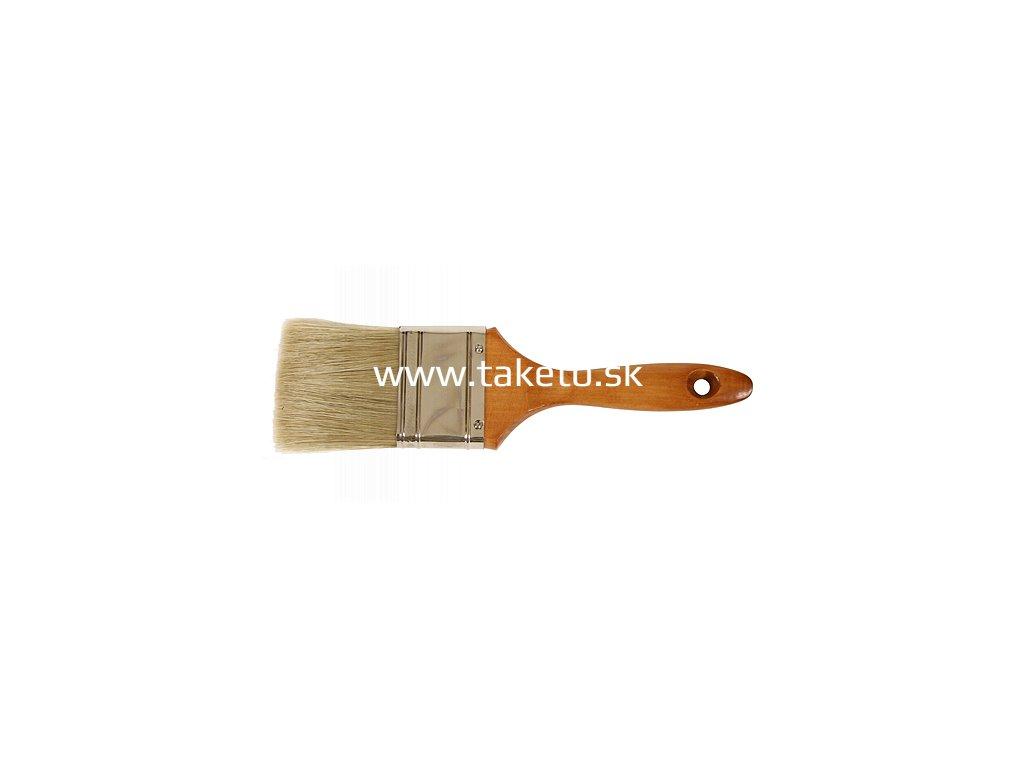 """Štetec JA019, 3,0"""", plochý, yellow, s drev. rúčkou  + praktický pomocník k objednávke"""