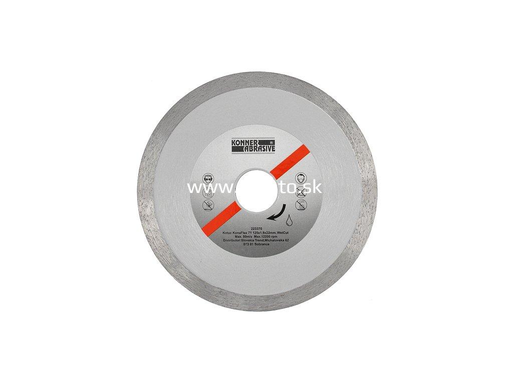 Kotúč diamantový KONNER KonaFlex 71 125x1,9x22 mm, WetCut, mokré rezanie, plný  + praktický pomocník k objednávke