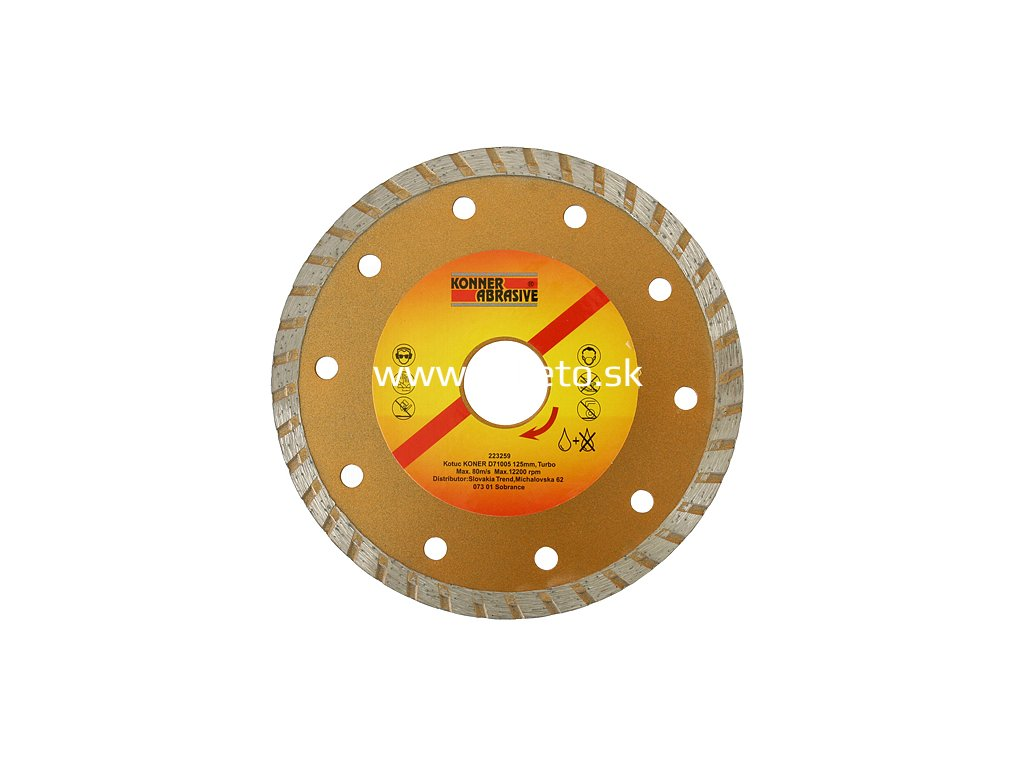 Kotuc diamantový KONER D71005 230 mm, Turbo +  + praktický Darček k objednávke