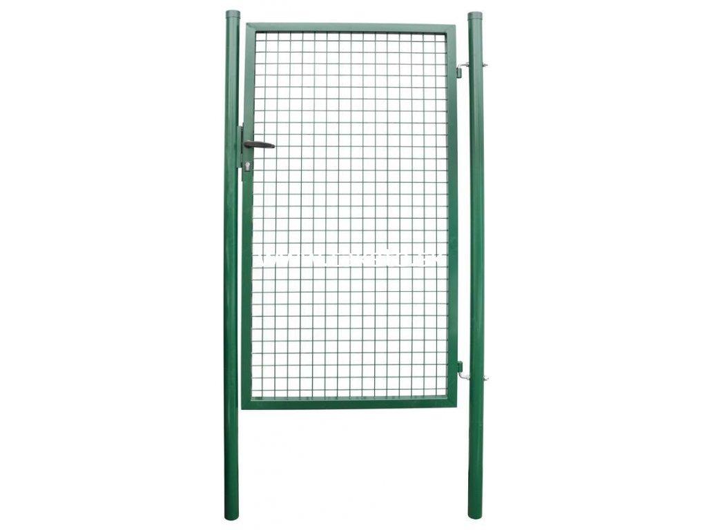Brána METALTEC ECO 1000/1500/50x50 mm, jednokrídlová, záhradná, zelená, ZN+PVC, RAL6005  + praktický pomocník k objednávke