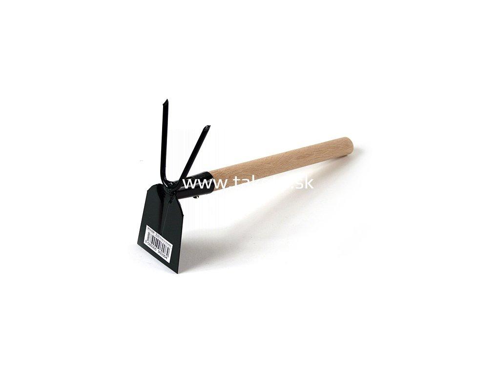 Motyčka FED 103/0550, plochá-dvojzub, s násadou  + praktický pomocník k objednávke
