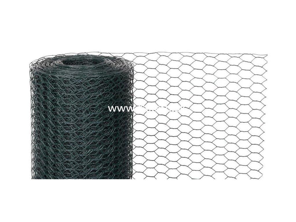 Pletivo GARDEN HEX PVC 1000/13/0,9 mm, zelene, RAL 6005, šesťhranné, záhradné, chovateľské, bal. 25  + praktický pomocník k objednávke