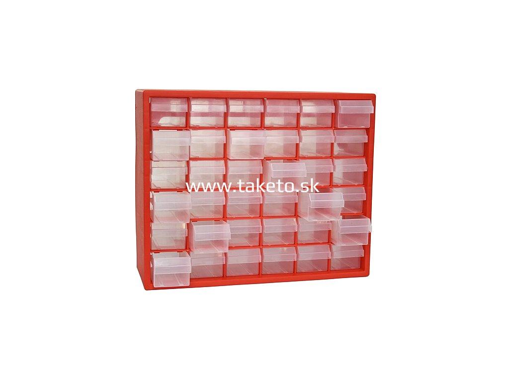 Organizér na stenu Strend Pro SBx3045, 36 zásuviek, 40.5x30.5x65 cm, max. 25 kg  + praktický pomocník k objednávke