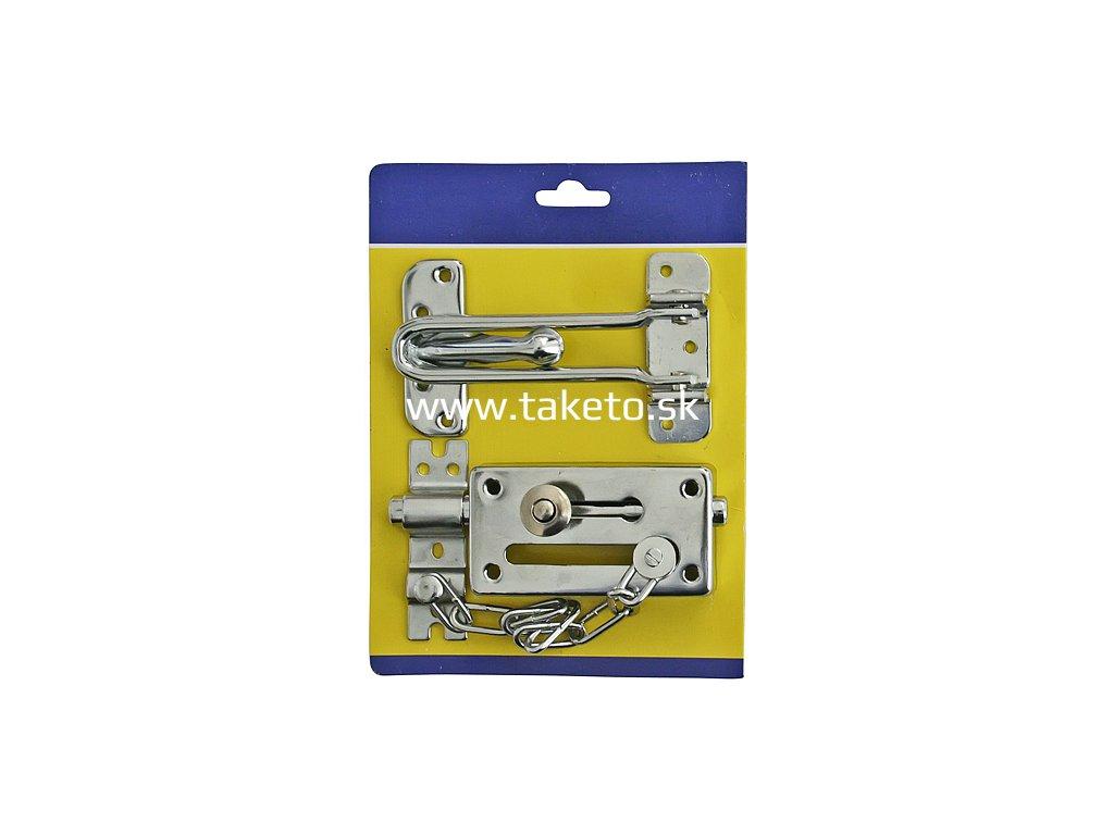 Petlica na dvere MU111720 s retiazkou, 2 dielna sada  + praktický pomocník k objednávke