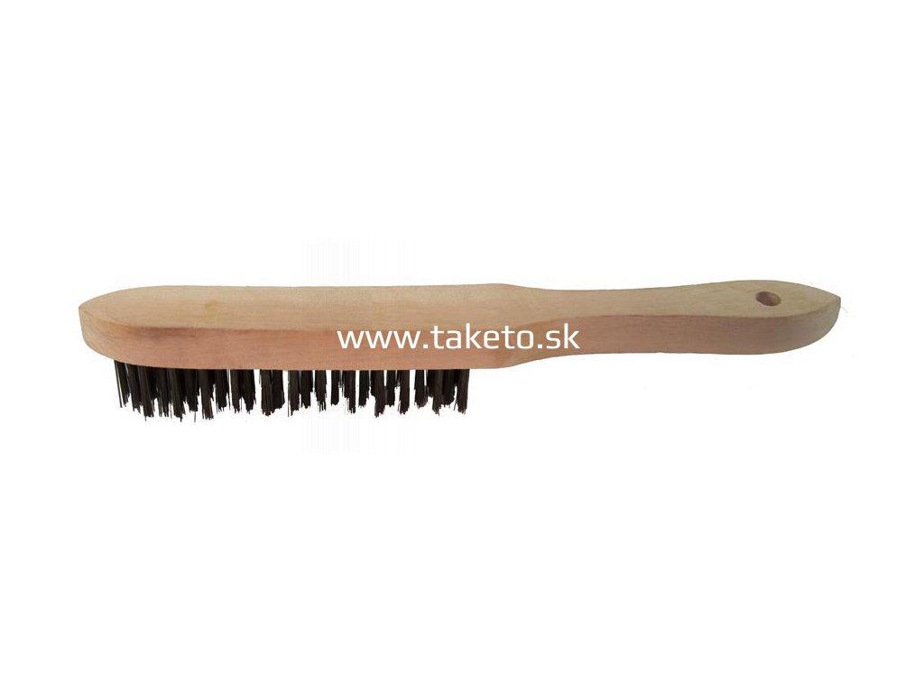 Kefa Strend Pro WB309 1506 (47008) 5 radová, oceľová, drevená rúčka  + praktický pomocník k objednávke