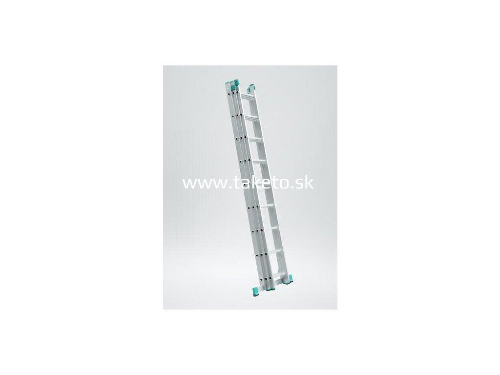 Rebrík ALVE EUROSTYL PROFI 7612, 3x12, univerzálny, A342 B796  + praktický pomocník k objednávke
