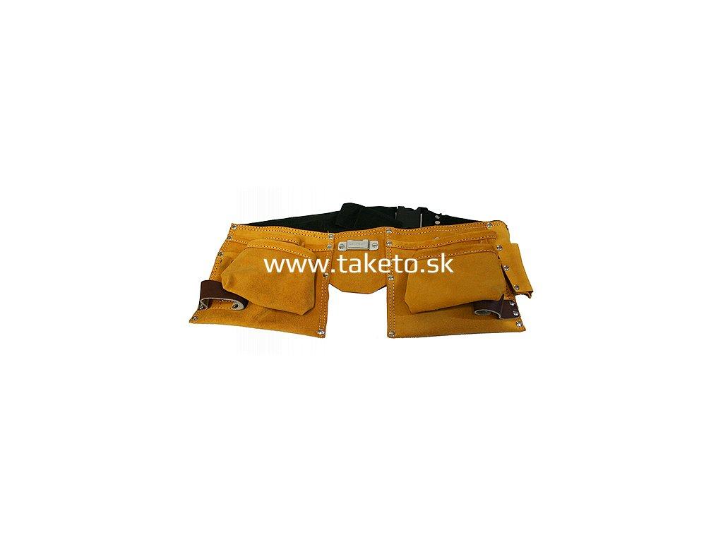 Puzdro na náradie HR68202 kožené, na opasok, 2 vrecká  + praktický pomocník k objednávke