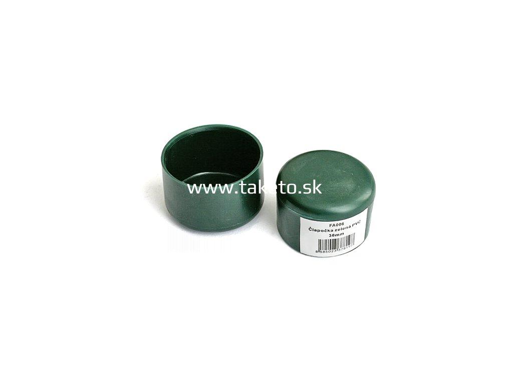 Ciapka METALTEC 48 mm, na okrúhly stĺpik, plastová, zelená  + praktický pomocník k objednávke