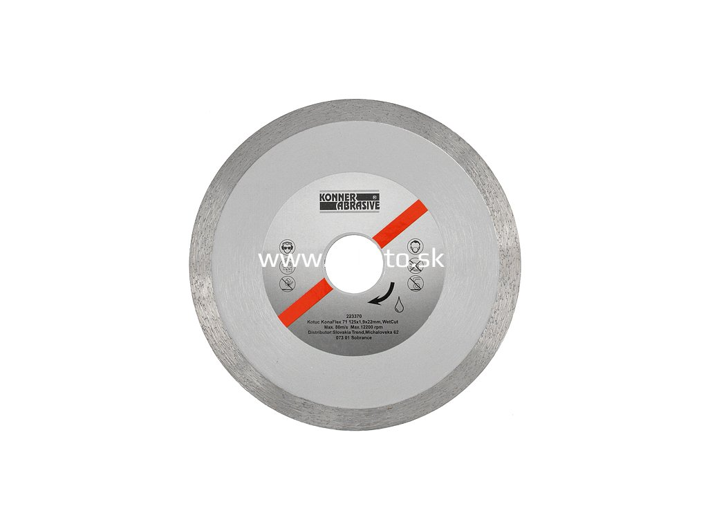 Kotuc diamantový KONER KonaFlex 71 230x2,4x22 mm, WetCut, mokré rezanie, plný  + praktický Darček k objednávke