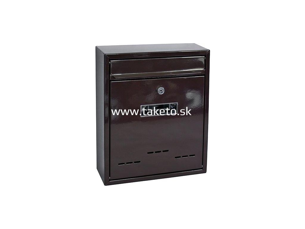 Schranka FLATBLOCK, 310x260x090 mm, hnedá  + praktický pomocník k objednávke