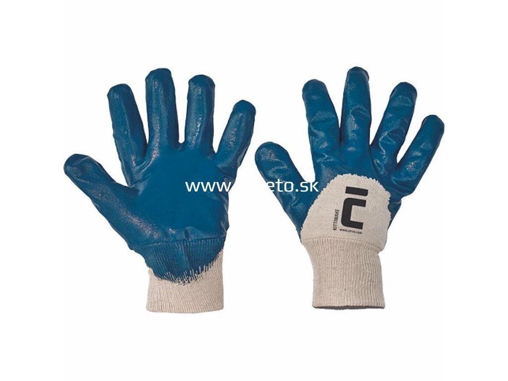 Rukavice KITTIWAKE 10, bavlnené, polomáčané  + praktický pomocník k objednávke