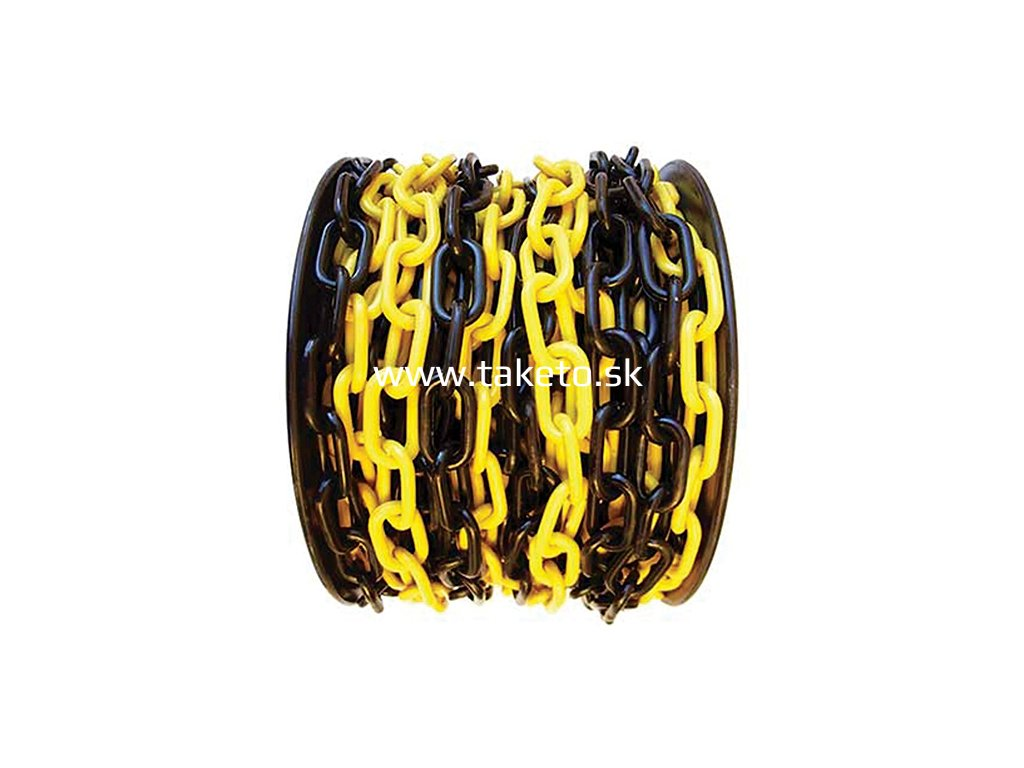 Reťaz SLC 6 mm, L-25 m, plastová, žlto-čierna, výstražná  + praktický pomocník k objednávke