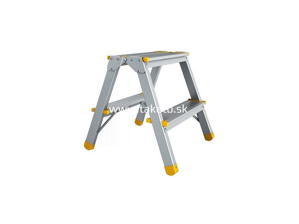 Schodiky ALVE 922, 2 schod, 41 cm, nos. 150 kg, obojstranné  + praktický pomocník k objednávke