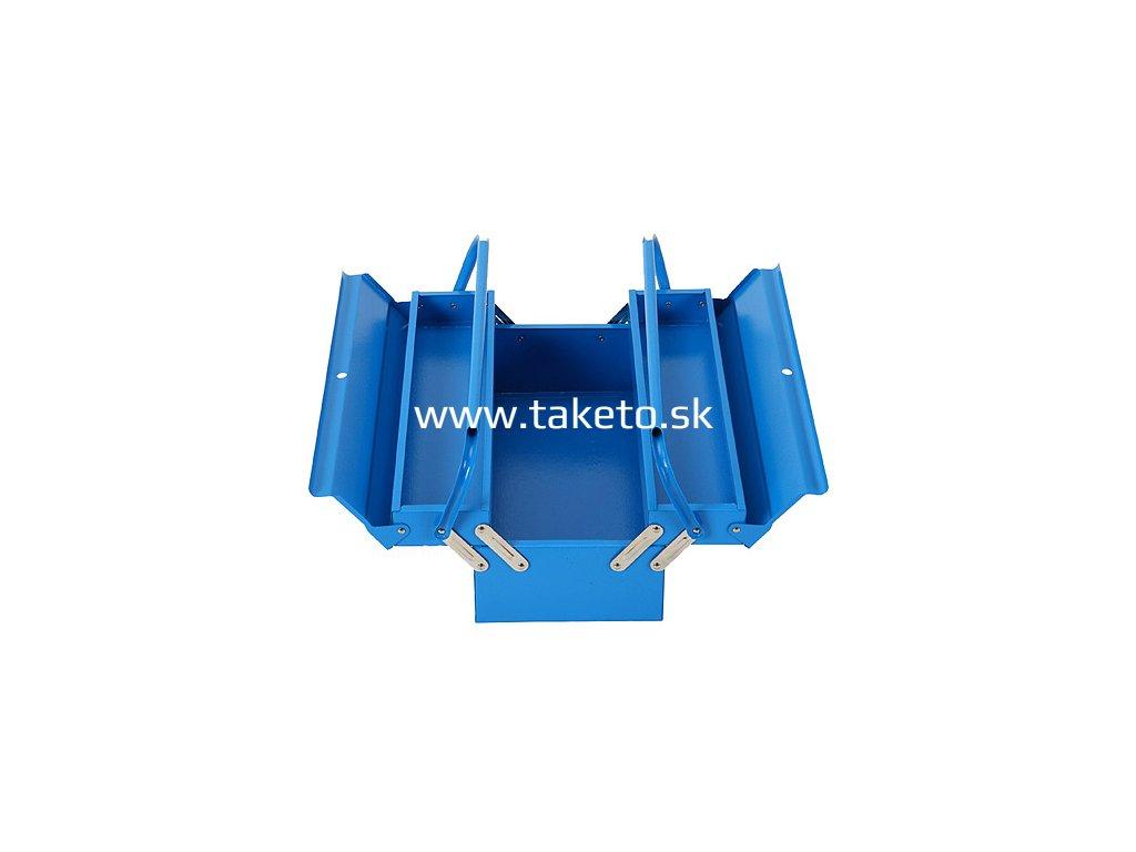 Kufor na náradie TB102F, 430x200x160 mm, 3 dielny, kovový box  + praktický pomocník k objednávke