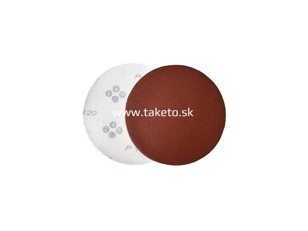 Výsek KONNER D30 125 mm, P060, brúsny, okrúhly, bez dier, AluOxide  + praktický pomocník k objednávke
