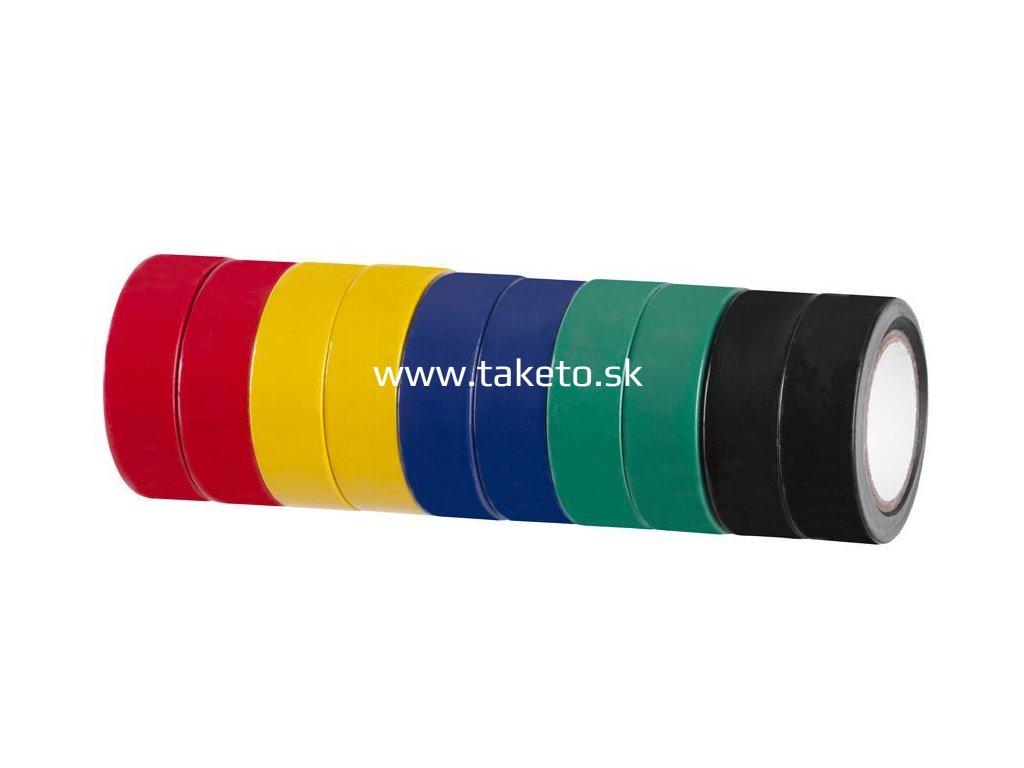Páska Strend Pro, 19 mm, L-10 m, PVC, max. 80°C, 600V, izolačná, rôzne farby, bal. 10 ks  + praktický pomocník k objednávke