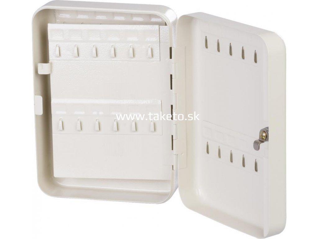Schranka KeyBox 214, na kľúče, 25x18x7.4 cm, 48 háčikov  + praktický pomocník k objednávke
