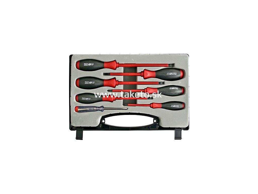 Sada skrutkovačov Strend Pro SD9955, VDE 6 dielna, ploché + Phillips + skúšačka, elektrikárska, 1000V  + praktický pomocník k objednávke