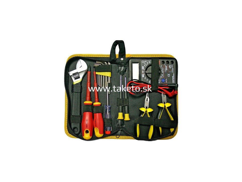 Sada náradia Strend Pro CMT-05.0215 • 15 dielna, elektrikárska + multimeter, v brašni  + praktický pomocník k objednávke