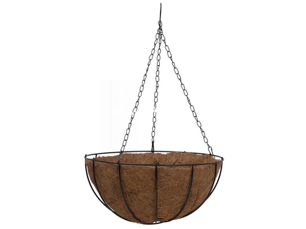 Kvetináč LC-CocoH-22 • oceľ/kokos, závesný, s vešiakom, 250x250x120 mm  + praktický pomocník k objednávke