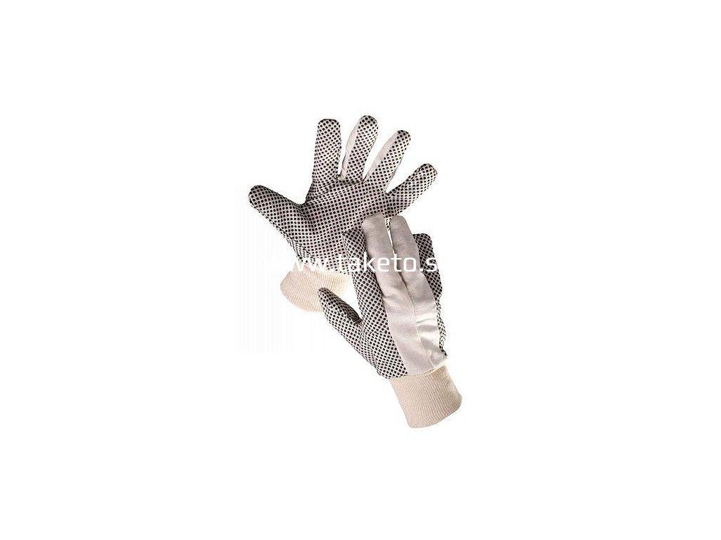 """Rukavice OSPREY 10"""", bavlnené, PVC terčíky, hobby, s blistrom  + praktický pomocník k objednávke"""
