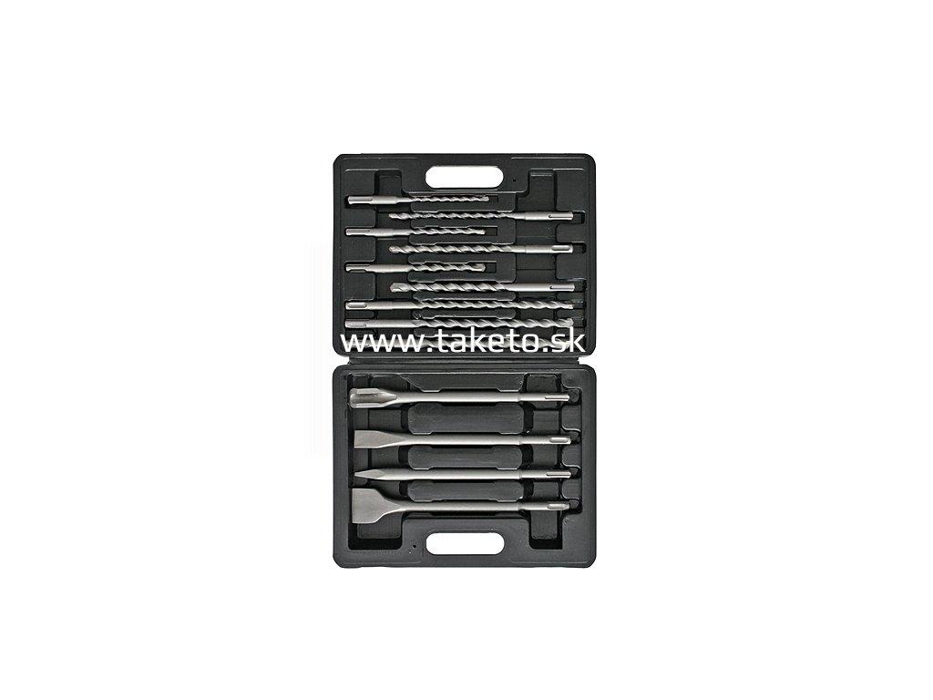 Sada vrtákov a sekáčov Strend Pro SD047, 13 dielna, SDS+, v kufri  + praktický pomocník k objednávke