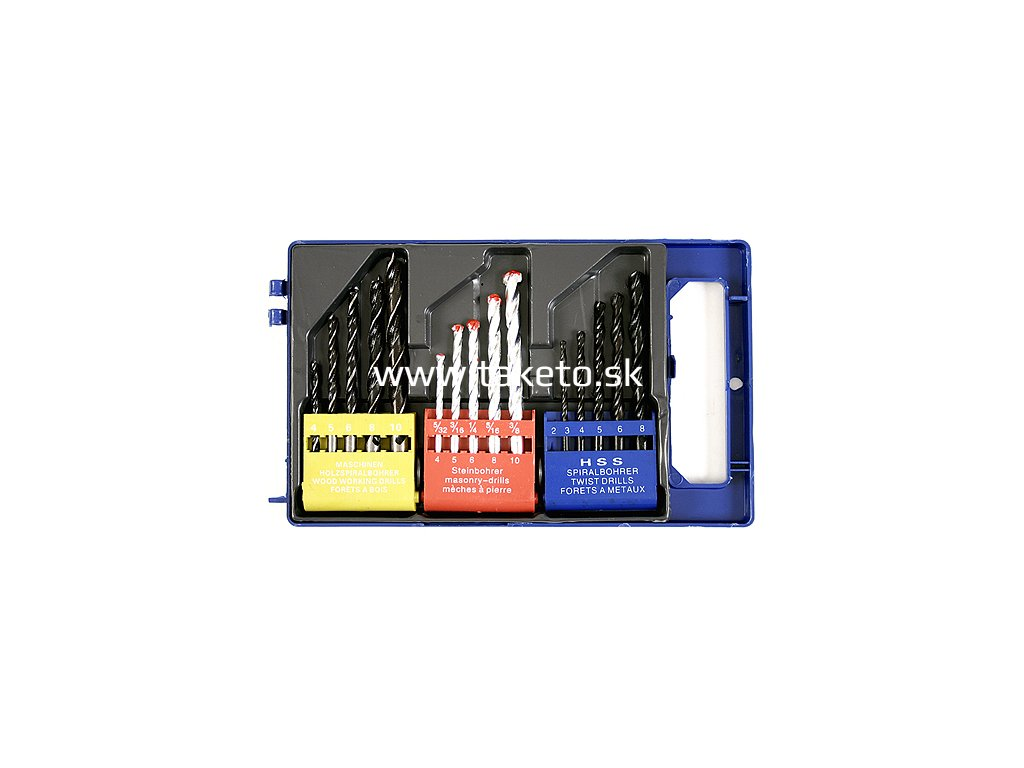 Sada vrtákov Strend Pro MS210, 3in1, 15 dielna, kov-drevo-tehla  + praktický pomocník k objednávke