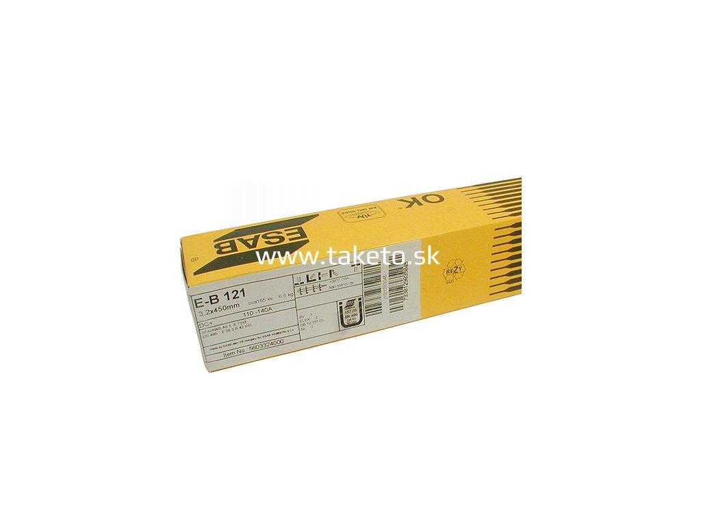 Elektródy ESAB EB 121 5,0/450 mm, 6.5 kg, 70 ks, 3 bal.  + praktický pomocník k objednávke