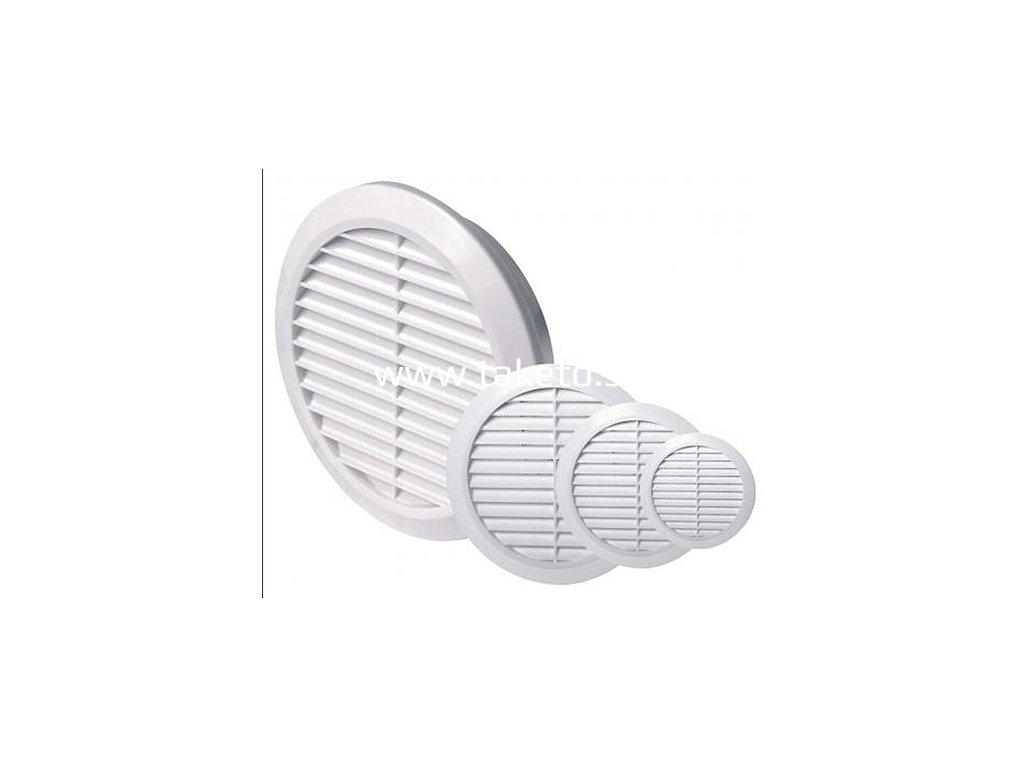 Mriežka vetracia Reflex 600910, 045/075 mm, biela, okrúhla, plastová so sieťkou  + praktický pomocník k objednávke
