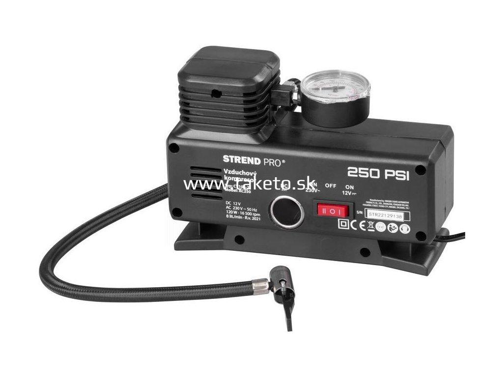 Kompresor Aircom AC250, 250 psi, 230V/12V  + praktický pomocník k objednávke