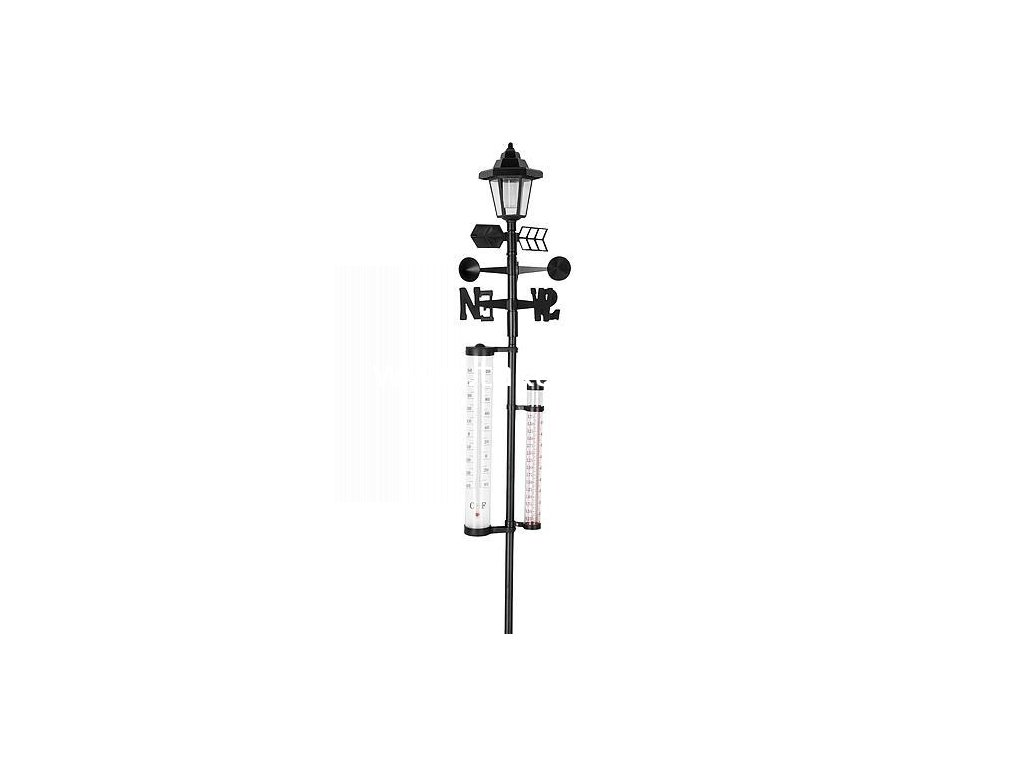 Meteostanica SWS29, Solar, 158 cm, zrážkomer, teplomer, solárna lampa  + praktický pomocník k objednávke