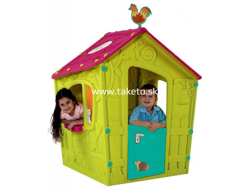 Domček Keter® MAGIC PLAYHOUSE, zelená/ružová, detský  + praktický pomocník k objednávke