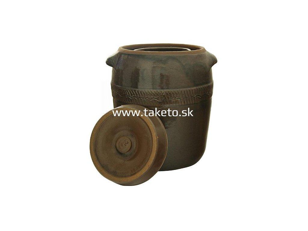 Súdok Ceramic 10 lit, na kapustu, II.trieda, s vrchnákom, 27x28 cm  + praktický pomocník k objednávke