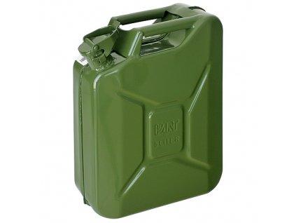 Kanister Jerican 05 lit, kovový, na PHM, GS/TUV, zelený, RAL6003  + praktický pomocník k objednávke