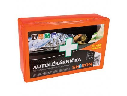 Autolekarnicka Sheron, plast, SK  + praktický pomocník k objednávke